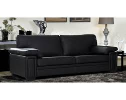 couch leather sofa black sectional chaise 2 pc living room set