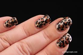 sinful colors zincing of you leopard print nail art polish groupie