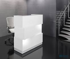 Small White Reception Desk Zen Reception Desk White Buy At Best Price Sohomod