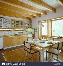 German Kitchen Marcel Breuer Dining Chairs In Modern German Kitchen Diningroom