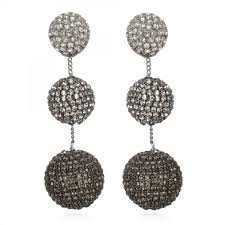 suzanna dai earrings suzanna dai gunmetal ombre grey earrings hauteheadquarters