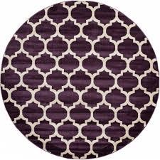 unique loom trellis purple 8 ft x 8 ft round area rug 3115925