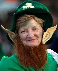Leprechaun Costume A Woman Wearing A Leprechaun Costume Attends A St Patrick U0027s Day