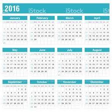 calender 2016 in blue color vector stock vector art 484186288 istock