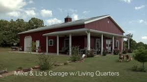 rv garages with living quarters mike u0026 liz u0027s garage w living quarters youtube