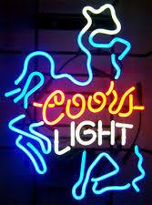 coors light bar sign coors light neon cowboy light beer bar sign 021 rare man cave