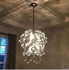 Pottery Barn Tree Pottery Barn Bella Round Crystal Chandelier Pendant Pewter Light