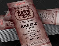 bbq tickets template barn bbq raffle ticket template on behance