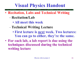 physics 218 lecture 1 dr david toback physics 218 lecture i