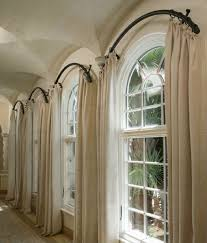 Curtains For Palladian Windows Decor Arched Window Curtain Rod Home Projects Pinterest Arched
