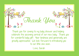 shower thank you gifts baby shower thank you gift card wording wording for baby shower