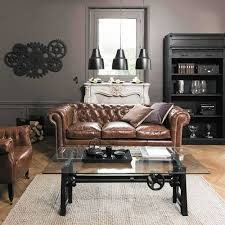 canap lit chesterfield canapé lit chesterfield 3 places en cuir marron chesterfield
