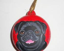 black pug ornament etsy