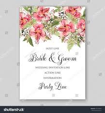 alstroemeria wedding invitation tropical floral printable stock