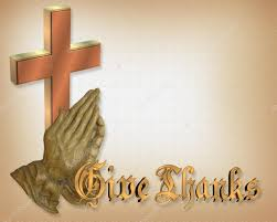 thanksgiving praying and cross stock photo irisangel