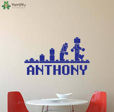 popular lego room decals buy cheap lego room decals lots from personalized name wall stickers for kids rooms boys girls bedroom wall decal nursery lego custom name