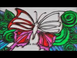 how to a glass painting butterfly