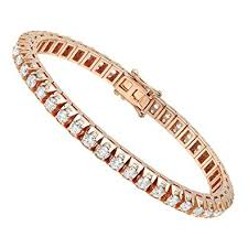rose gold white gold bracelet images 14k rose white or yellow gold diamond tennis bracelet jpg