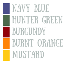 fall autumn inspiration checklist u0026 color palette u2013 goal crush club