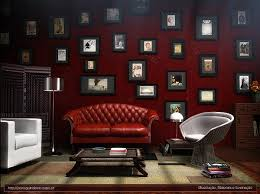 painted living room with dark red carameloffers