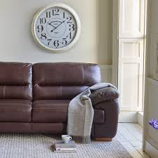 Leather Sofa Land Clayton 3 Seater Sofa In Brown Leather Oak Furniture Land