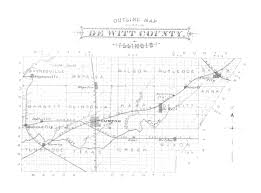 County Map Illinois by 1882 Outline Map Of Dewitt County Illinois