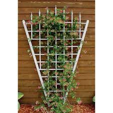 dura trel 94 in x 58 in white vinyl pvc estate trellis 11157