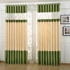 Exam Room Curtains Modern Style Floral Pattern Polyester Curtain For Living Room