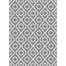 Area Rug Pattern Metropolis Moroccan Tile Pattern Grey White Area Rug 710 X 103