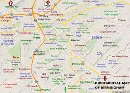 san francisco judgmental map hilarious stereotypical alabama maps