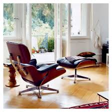 Vitra Eames Armchair Classic Eames Lounge Chair U0026 Ottoman Black Leather U0026 Santos
