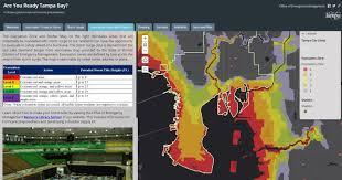 Tampa Bay Florida Map by Natural Hazards Map City Of Tampa