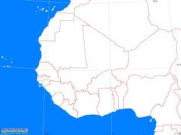 Blank Political Map by Africa West Africa Outline Map A Learning Family