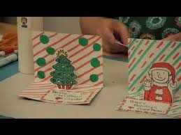 how to make 3 d christmas cards christmas crafts youtube