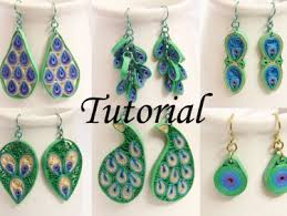 paper ear rings pdf tutorial make your own peacock inspired paper quilled