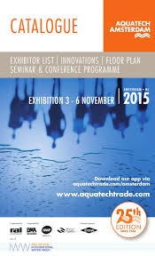 aquatech 2015 catalogue by rai amsterdam issuu