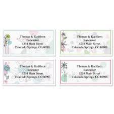 flower address labels floral u0026 gardening address labels