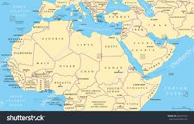 Map Of Al Political Map Of The Middle East And North Africa Africa Map