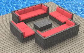Modern Wicker Patio Furniture by Bermuda 11pc Ultra Modern Wicker Patio Set Www Urbanfurnishing Net