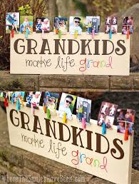 Wood Craft Ideas For Christmas Gifts by Colorful Grandkids Make Life Grand Wood Sign Photo Display