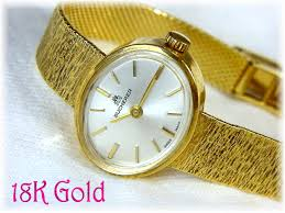 solid gold band bucherer 18k solid gold swiss wrist with 18k