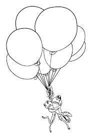 clown holding balloons coloring page alltoys for