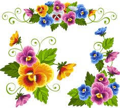 Clip Art Flowers Border - grab this free clipart to celebrate the summer floral border