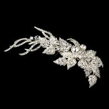 hair accessories for hair rhinestone silver leaf hair clip bridal hair