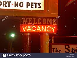 route 66 vacancy neon desert hills motel in tulsa usa neon sign