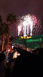 new years in las vegas view of fireworks from the tropicana on new year s picture of