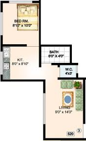 520 Sq Ft 540 Sq Ft 1 Bhk 1t Apartment For Sale In Tisai Krupa Construction