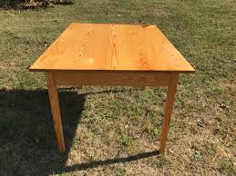 how to stain pine table clear finish pine farm house table w drawer marathonmillwork