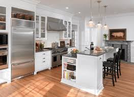kitchen white kitchen island granite top dark wood stools pendant