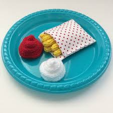 jeux de cuisine frite fries doll s tea of fabric and wool doll s tea set